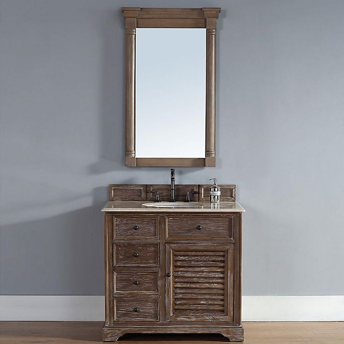 Alternate image 1 for Savannah 36-Inch Driftwood Single Vanity with Drawers and Galala Beige Stone Top