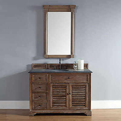 Savannah 47.5-Inch Driftwood Vanity Cabinet with Drawers without Countertop