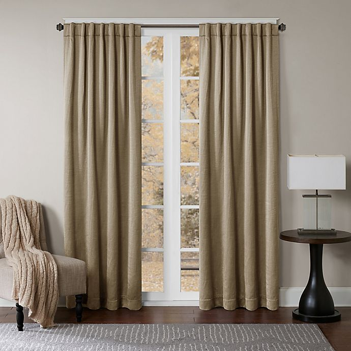 Alternate image 1 for Princeton 63-Inch Rod Pocket/Back Tab Window Curtain Panel in Taupe