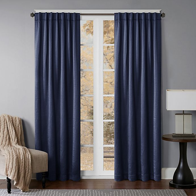 Alternate image 1 for Princeton 63-Inch Rod Pocket/Back Tab Window Curtain Panel in Navy