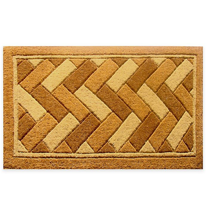 Alternate image 1 for Nature by Geo Crafts Imperial Geometrix 24-Inch x 39-Inch Natural Bleach Door Mat