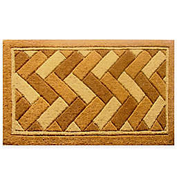 Nature by Geo Crafts Imperial Geometrix Natural Bleach Door Mat