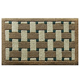 Nature by Geo Crafts Inlaid Providence 30-Inch x 48-Inch Door Mat