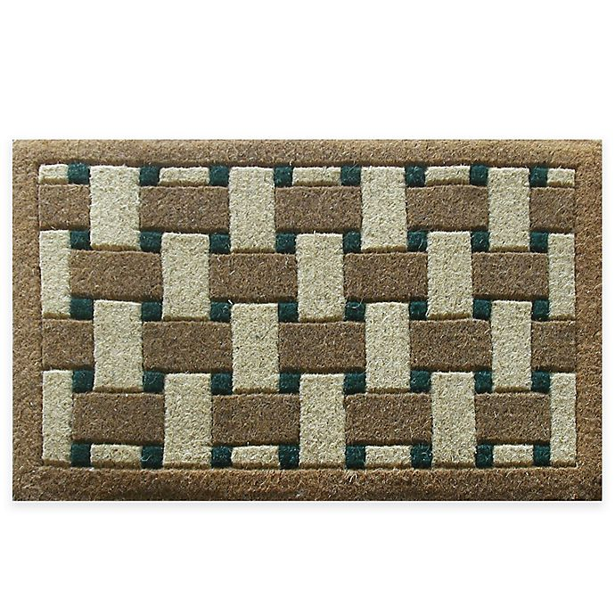 Alternate image 1 for Nature by Geo Crafts Inlaid Providence 30-Inch x 48-Inch Door Mat