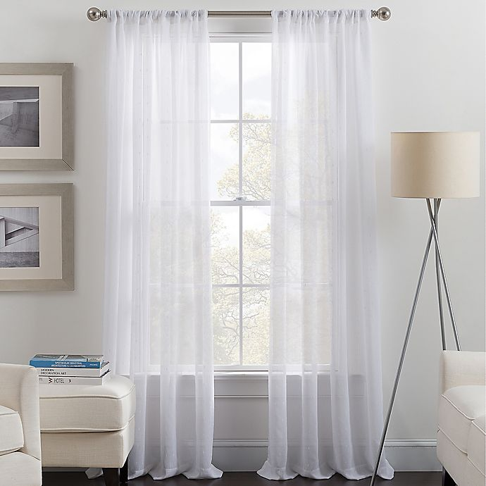 Alternate image 1 for Destiny Rod Pocket Sheer Window Curtain Panel