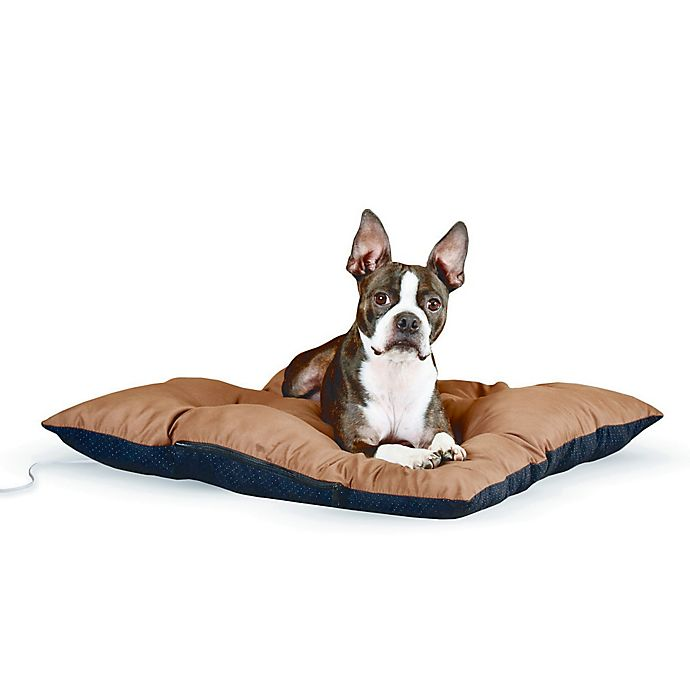 Alternate image 1 for Medium Thermo-Cushion™ Pet Bed in Chocolate