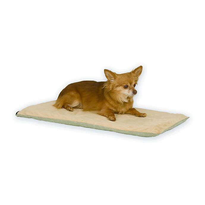 Alternate image 1 for Thermo-Pet Heated Pet Mat in Sage/Tan