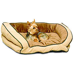 Bolster Small Pet Couch in Mocha/Tan