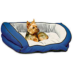 Bolster Small Pet Couch in Blue/Grey