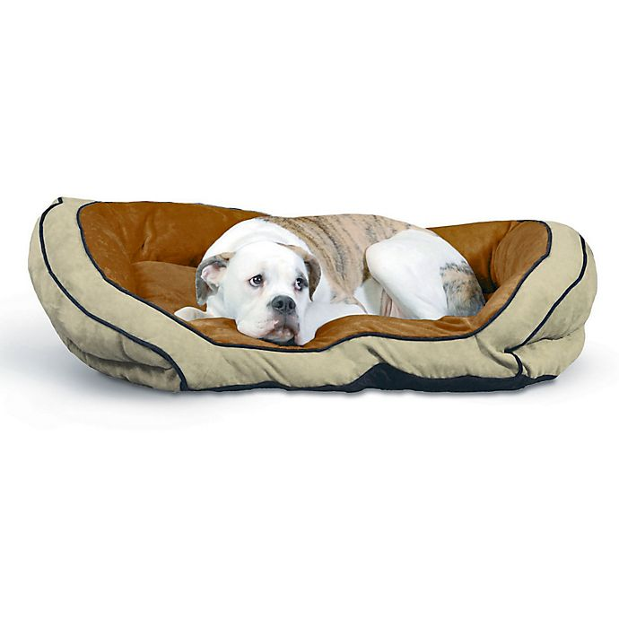 Alternate image 1 for Bolster Large Pet Couch in Mocha/Tan