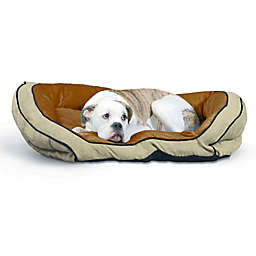 Bolster Large Pet Couch in Mocha/Tan