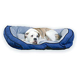 Bolster Large Pet Couch in Blue/Grey