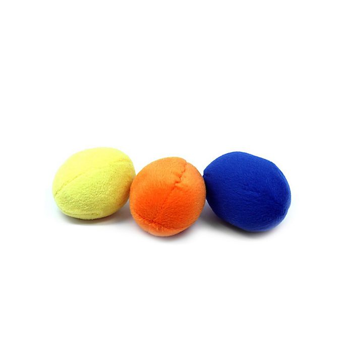 Alternate image 1 for Outward Hound® 3-Pack Squeakin' Eggs Dog Toys in Yellow/Orange/Blue