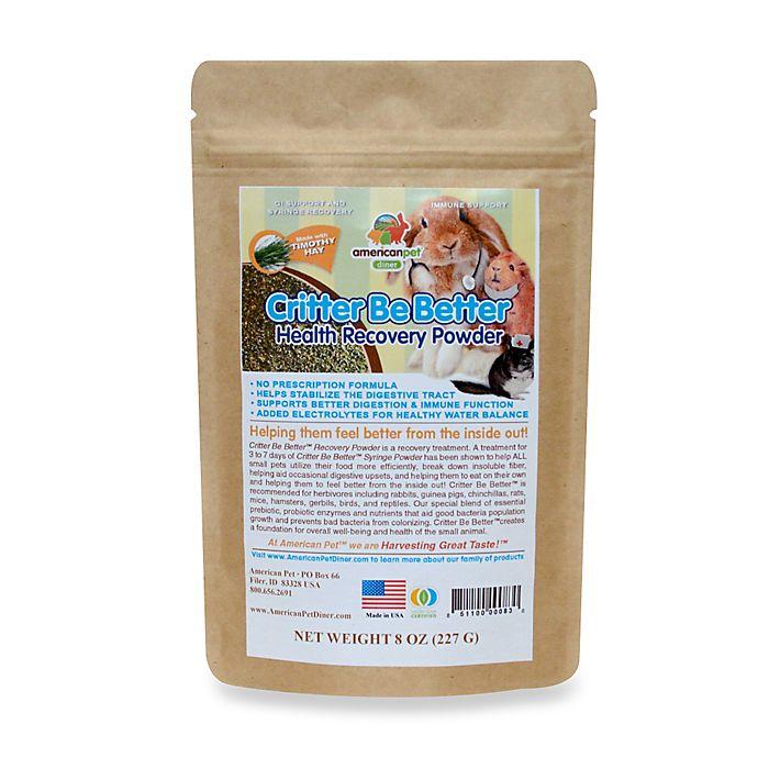 Alternate image 1 for Critter Be Better 8 oz. Probiotic Digestive Health Powder