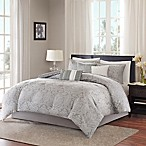 Madison Park Averly Full/Queen Duvet Cover Set in Grey