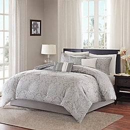 Madison Park Averly Duvet Cover Set in Grey