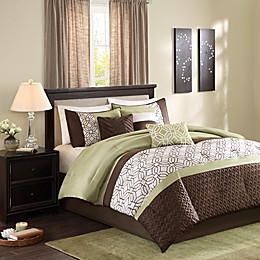 Madison Park Briggs 7-Piece Comforter Set in Green