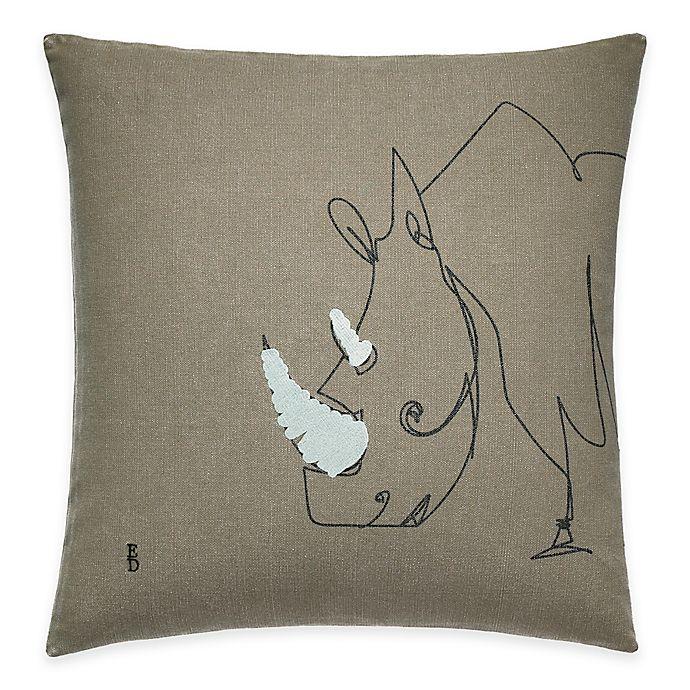 Alternate image 1 for ED Ellen DeGeneres Rhino Throw Pillow in Grey