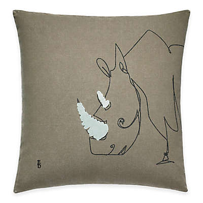 ED Ellen DeGeneres Rhino Throw Pillow in Grey