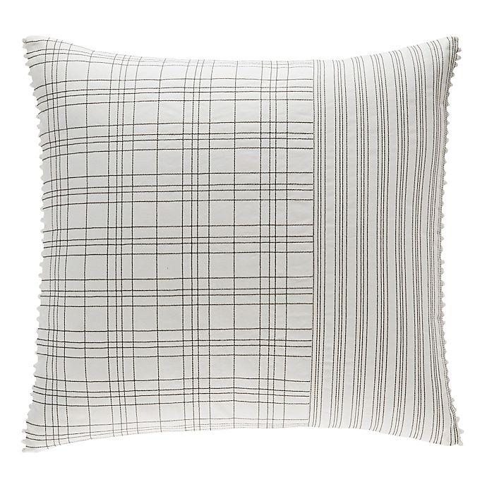 Alternate image 1 for ED Ellen DeGeneres Greystone European Pillow Sham in White