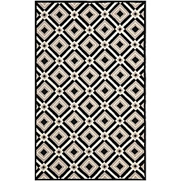 Safavieh Four Seasons Diamonds Rug in Black/Grey