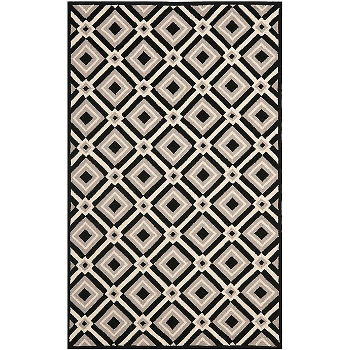 Alternate image 1 for Safavieh Four Seasons Diamonds 5-Foot x 8-Foot Area Rug in Black/Grey