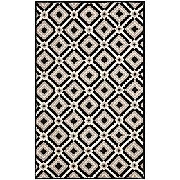 Safavieh Four Seasons Diamonds 8-Foot x 10-Foot  Area Rug in Black/Grey