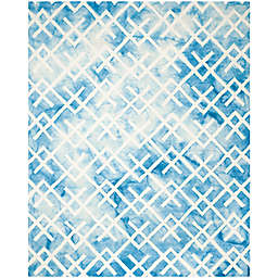 Safavieh Dip Dye Angles 8-Foot x 10-Foot Area Rug in Blue/Ivory