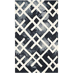 Safavieh Dip Dye Angles 2-Foot x 3-Foot Accent Rug in Graphite/Ivory