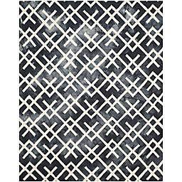 Safavieh Dip Dye Angles 8-Foot x 10-Foot Area Rug in Graphite/Ivory