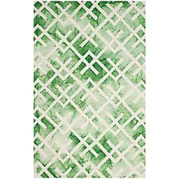 Safavieh Dip Dye Angles 5-Foot x 8-Foot Area Rug in Green/Ivory