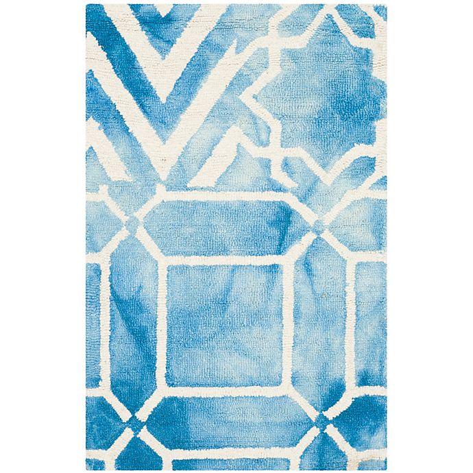 Alternate image 1 for Safavieh Dip Dye Patterns 3-Foot x 5-Foot Area Rug in Blue/Ivory