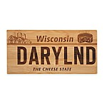 Wisconsin License Plate Bamboo Cutting Board
