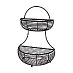 Gourmet Basics by Mikasa® Wire Rope 2-Tier Countertop Basket in Black