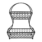 Gourmet Basics by Mikasa® 2-Tier Lattice Fruit Basket in Black