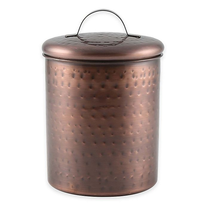 Alternate image 1 for Thristystone® 1 qt. Hammered Copper Finish Canister