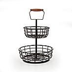 Gourmet Basics by Mikasa® Adjustable 2-Tier Basket in Black