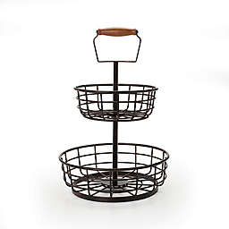 Gourmet Basics by Mikasa® Adjustable 2-Tier Basket in Black