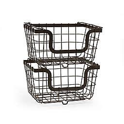 Gourmet Basics by Mikasa® Stacking Organization Baskets (Set of 2)