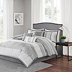 Madison Park Bennett 7-Piece Queen Comforter Set in Grey