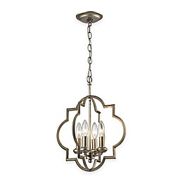 Elk Lighting Chandette 4-Light Pendant in Aged Silver