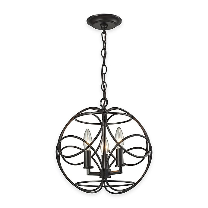 Elk Lighting Fans: Elk Lighting Chandette 3-Light Pendant In Oil Rubbed