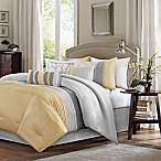 Madison Park Amherst 7-Piece Queen Comforter Set in Yellow