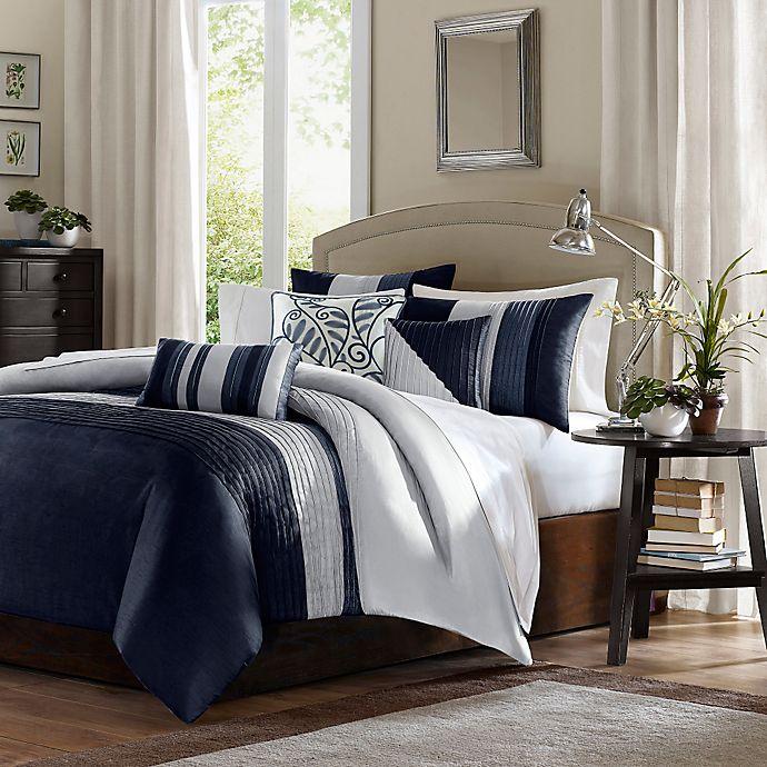 Alternate image 1 for Madison Park Amherst 7-Piece California King Comforter Set in Navy