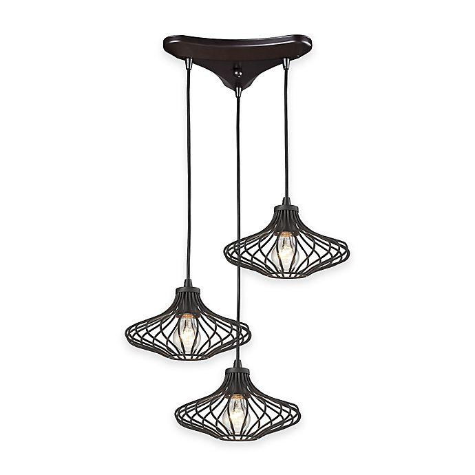 Elk Lighting Yardley: Buy Elk Lighting Yardley 3-Light Cluster Pendant Light In