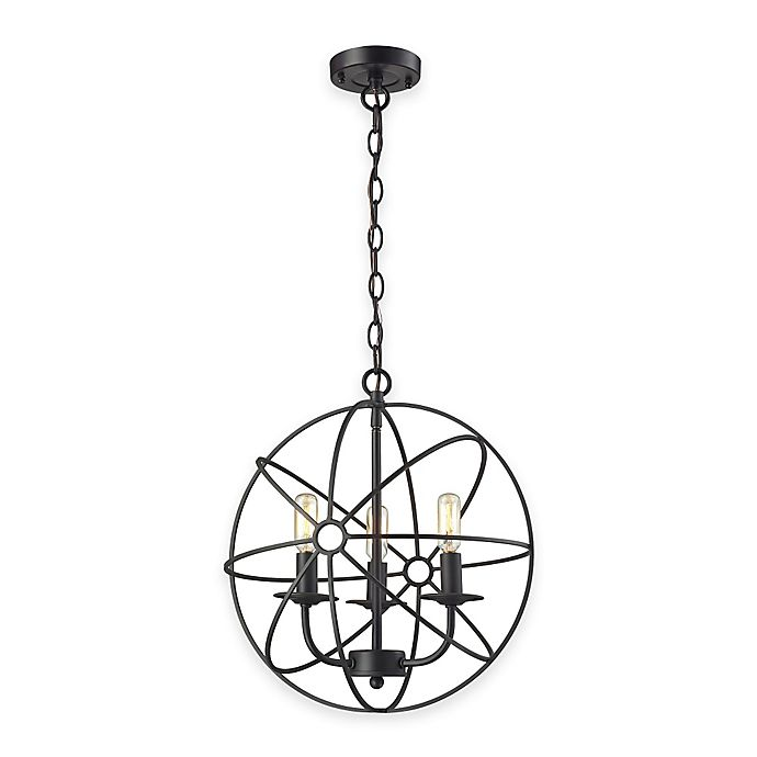 Elk Lighting Online: Elk Lighting Yardley 3-Light Globe Pendant Light In Oil