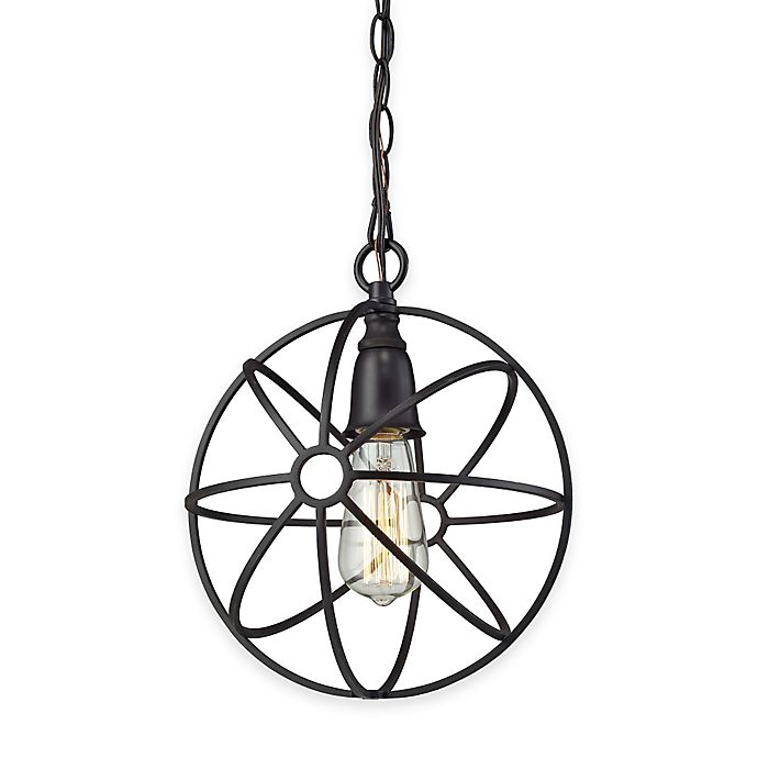 Elk Lighting Yardley: Elk Lighting Yardley 1-Light Globe Pendant Light In Oil