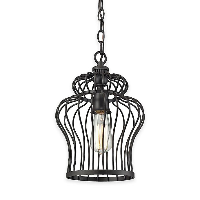 Elk Lighting Yardley: Elk Lighting Yardley 1-Light Foyer Pendant In Oil-Rubbed