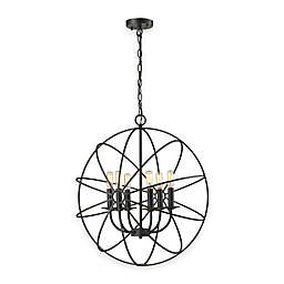 Elk Lighting Yardley 6-Light Globe Chandelier in Oil-Rubbed Bronze