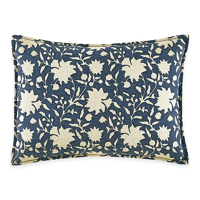 Alternate image 1 for ED Ellen DeGeneres Azur Stripe Floral Breakfast Throw Pillow in Indigo